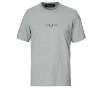 Embroidered Tshirt Steel Marl