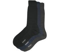 3-Pack Naish Merino/Nylon Socke Navy/Black/Charcoal