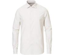 Soft Striped Baumwollhemd White/