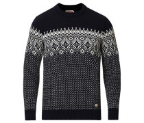 Woll Jacquard Pullover Navy