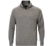 Merino/Nylon Half Zip Heather Pewter