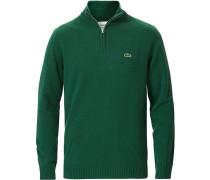 LambsWoll Half Zip Vert Green