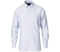Striped Oxford Buttondownhemd Blue/White