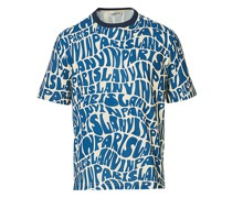 Allover Print Kurzarm Tshirt Navy