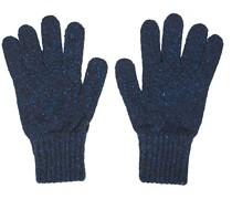 Classic Donegal Merino Handschuhe Navy/Red