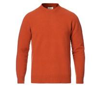 Woll/Cashmere Cew Neck Pullover Orange