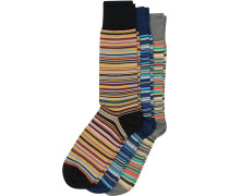 3-Pack Classic Socke Multistripe