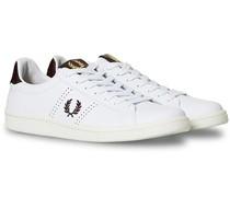 Park Side Tab Ledersneaker White/Oxblood
