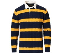 Stricked Cable Rugger Navy/Yellow