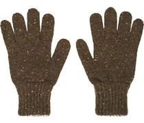 Classic Donegal Merino Handschuhe Green/Grey