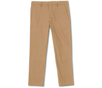 Theo Regular Fit Stretch Chinohose Green Stone