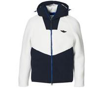 Fleece Hooded Sweatshirt Off White/Black