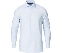 Slim Fit Striped Oxfordhemd Light Blue