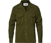 Bernard Tencel Überhemd Army Green
