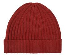 Strick Cashmere Mütze Red