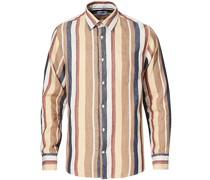 Errico Leinenhemd Multi Stripe