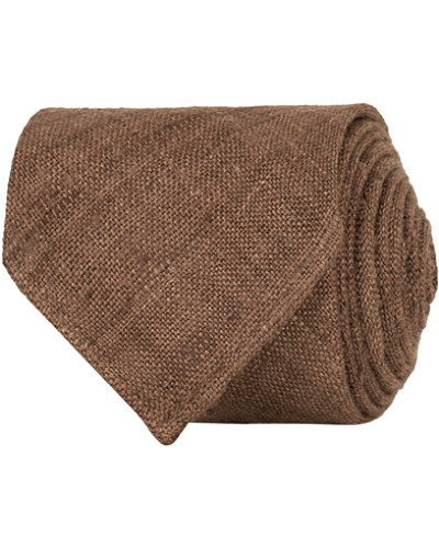 Tussah Silk Handrolled 8 cm Krawatte Brown