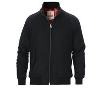 G9 Padded Melton Woll Harrington Jacke Charcoal