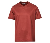 Mercerized Baumwoll Tshirt Dark Red