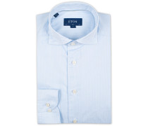 Slim Fit Lightweight Stripe Extreme Cutaway Blue