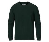 Classic Merino Rundhalspullover Emerald Green
