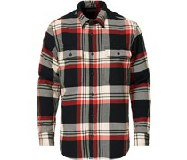 Vintage Checked Flannel Arbeitshemd Black/Red/Cream