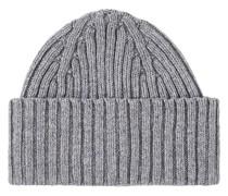 LambsWoll Strick Hut/Mütze Grey