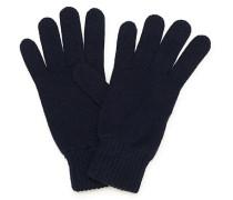 Stricked Cashmere Handschuhe Navy
