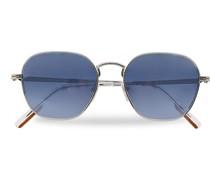 EZ0174 Sonnenbrille Shiny Palladium/Blue Mirror