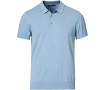 Ridge Baumwoll/Silk Polo Steel Blue