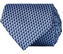 Silk Micro Weave 8 cm Krawatte Navy
