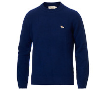 LambsWoll Fox Head Pullover Dark Navy