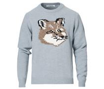 Big Fox Head Pullover Grey