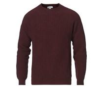 Strick LambsWoll/Kaschmirsweater Oxblood