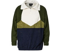 Longsleeve Terry Zip Sweat Dark Green