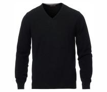 Merino V- Neck Pullover Black