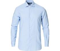 Slim Fit Striped Oxfordhemd Blue