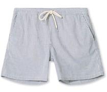 Hill Stripe Drawstring Shorts Nayy/Stripe