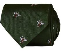 Silk Reppe Woven Wasp 8 cm Krawatte Green