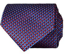 Silk Geometric Weave Krawatte Blue/Red