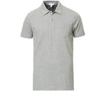 Riviera Polohemd Grey Melange