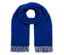 Solid Woll/Kaschmirschal Blue