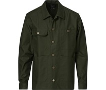 Heavy Baumwoll Pocket Überhemd Olive