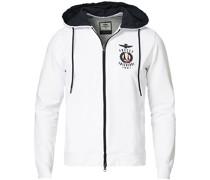 FE1579 Full Zip Hood Sweatshirt Off White
