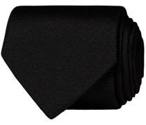 Silk Basket Weave Krawatte Faded Black