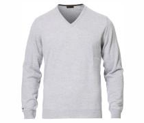 Merino V- Neck Pullover Light Grey