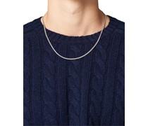 Curb Chain M Halskette Silver