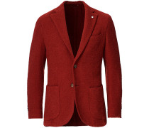Jack Regular Woll Boucle Blazer Red