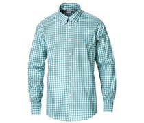 Regent Fit Non Iron Oxfordhemd Green Check