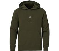 Embroidered Hooded Sweatshirt Hunting Green